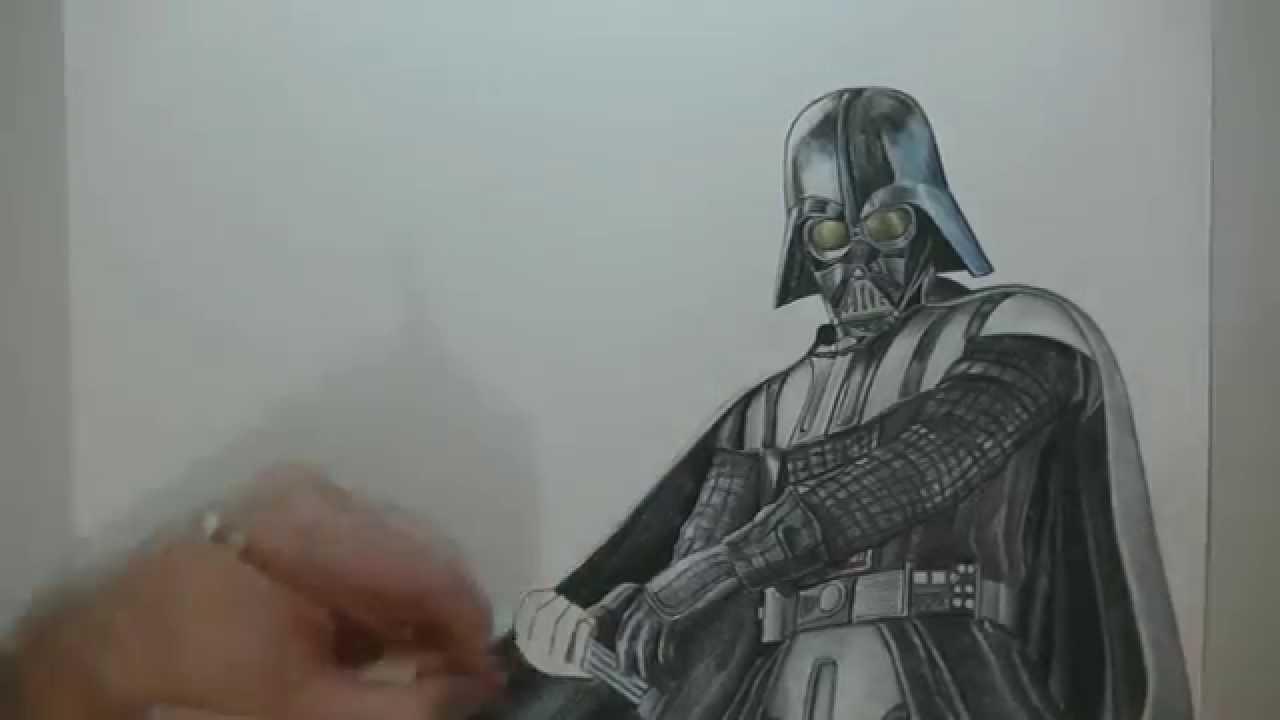 1280x720 Drawing Darth Vader
