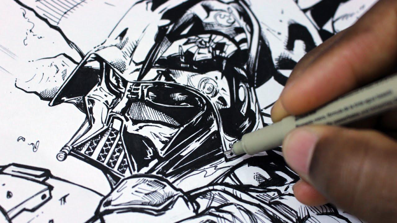 Line Drawing Yoda : Star wars drawing darth vader at getdrawings free for