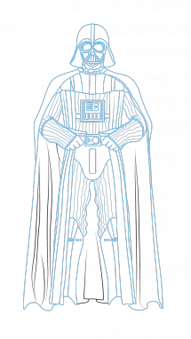215x382 How To Draw Darth Vader, Star Wars, Movies, Easy Step By Step