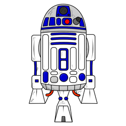 250x250 How To Draw R2d2 From Star Wars