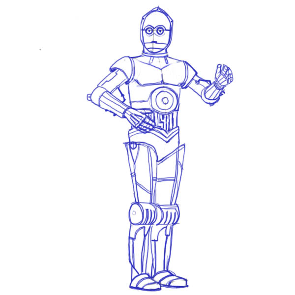 600x600 How To Draw Star Wars Characters C3po8
