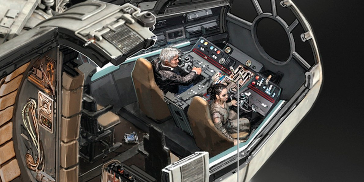 1190x595 Detailed Drawings Take You Inside The Millennium Falcon