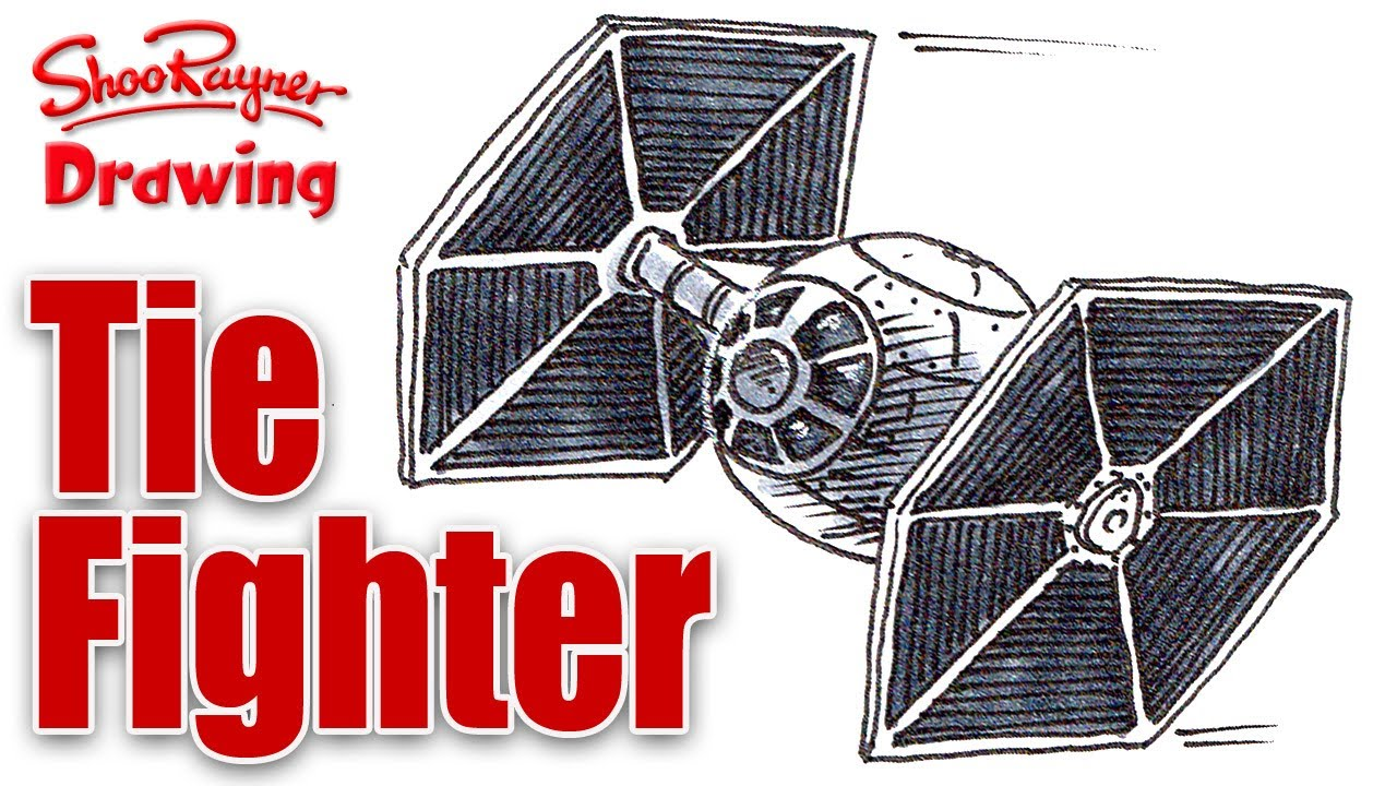 1280x720 How To Draw A Star Wars Tie Fighter