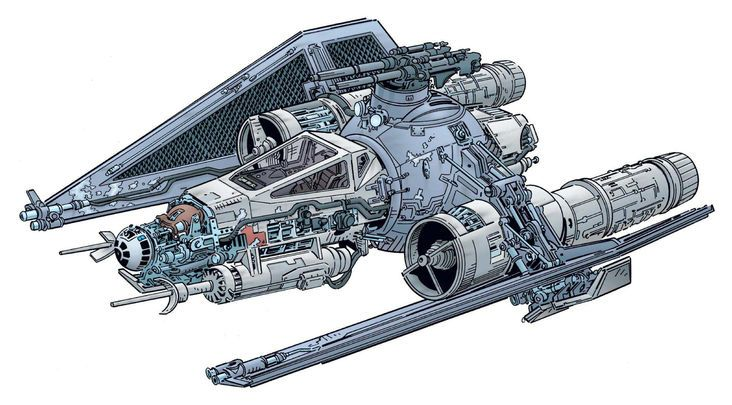 732x405 Ugly Spaceship, Star Wars Drawings And Rpg