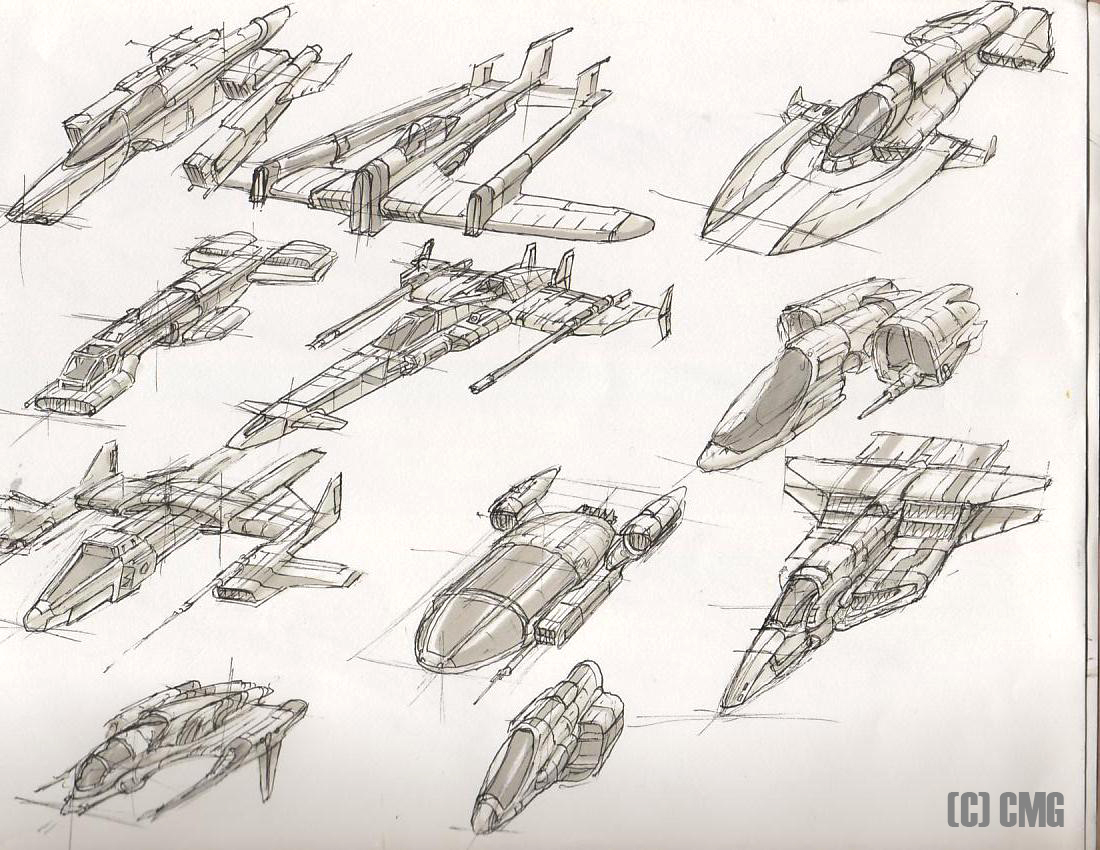 1100x850 Space Ship Drawings Group