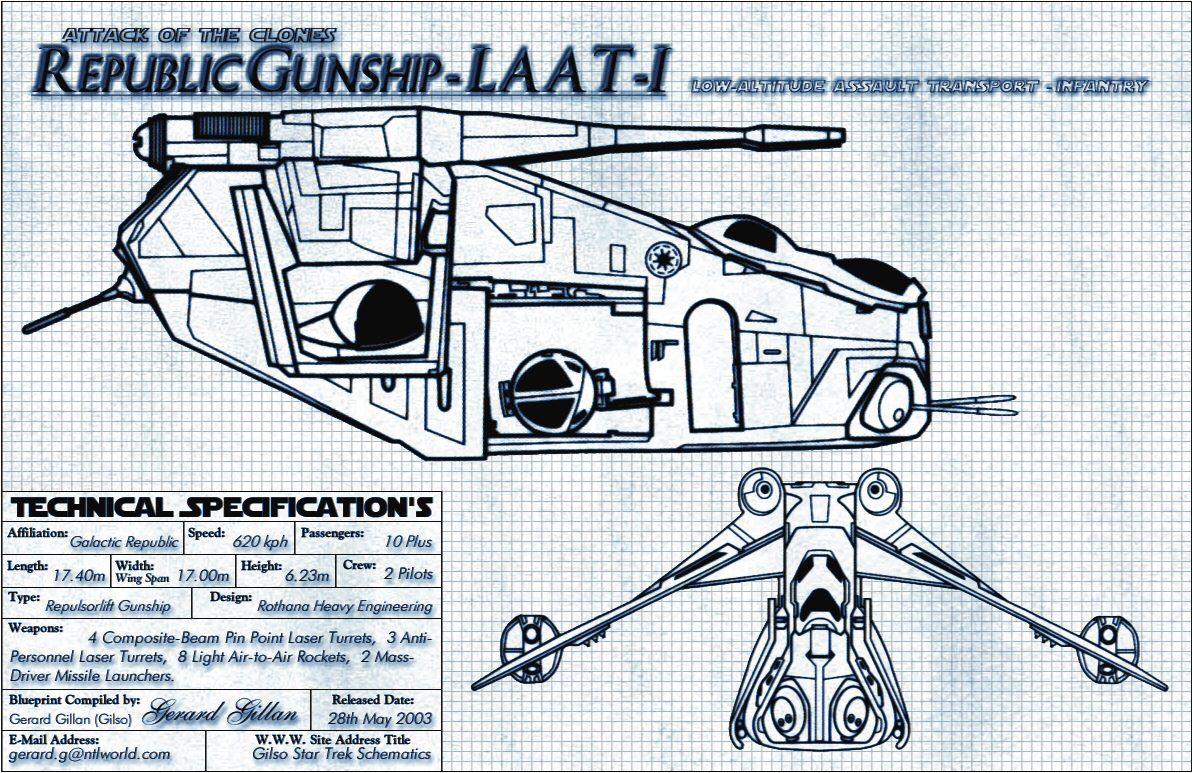 1193x773 Republic Gunship Blueprint