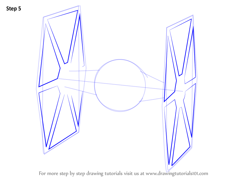 844x598 Learn How To Draw Tie Fighter From Star Wars