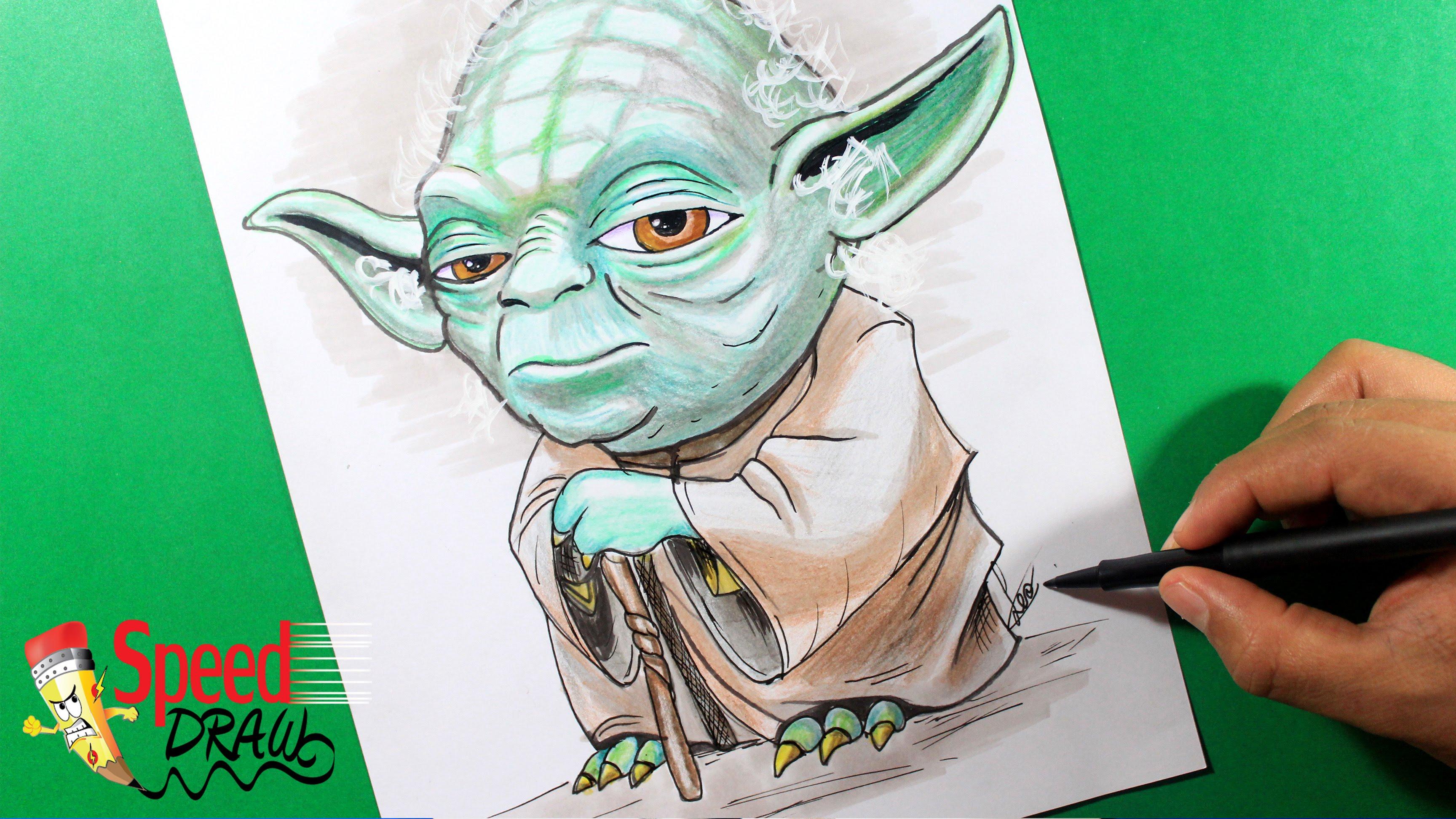 3456x1944 How To Draw Star Wars How To Draw Yoda Como Dibujar Yoda