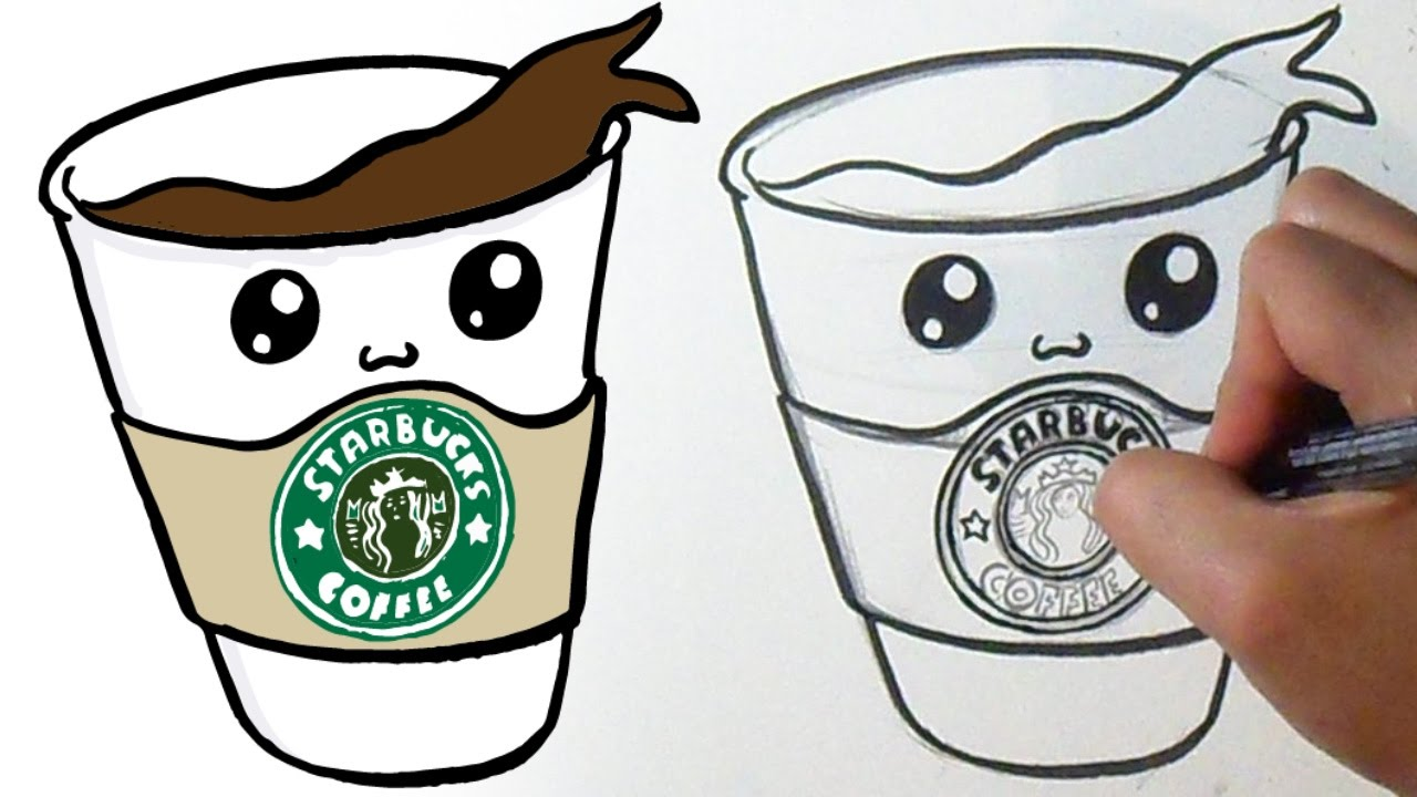 how to draw realistic starbucks