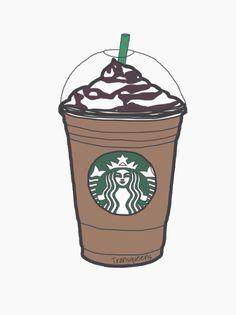Starbucks Drinks Tumblr Drawings Pink