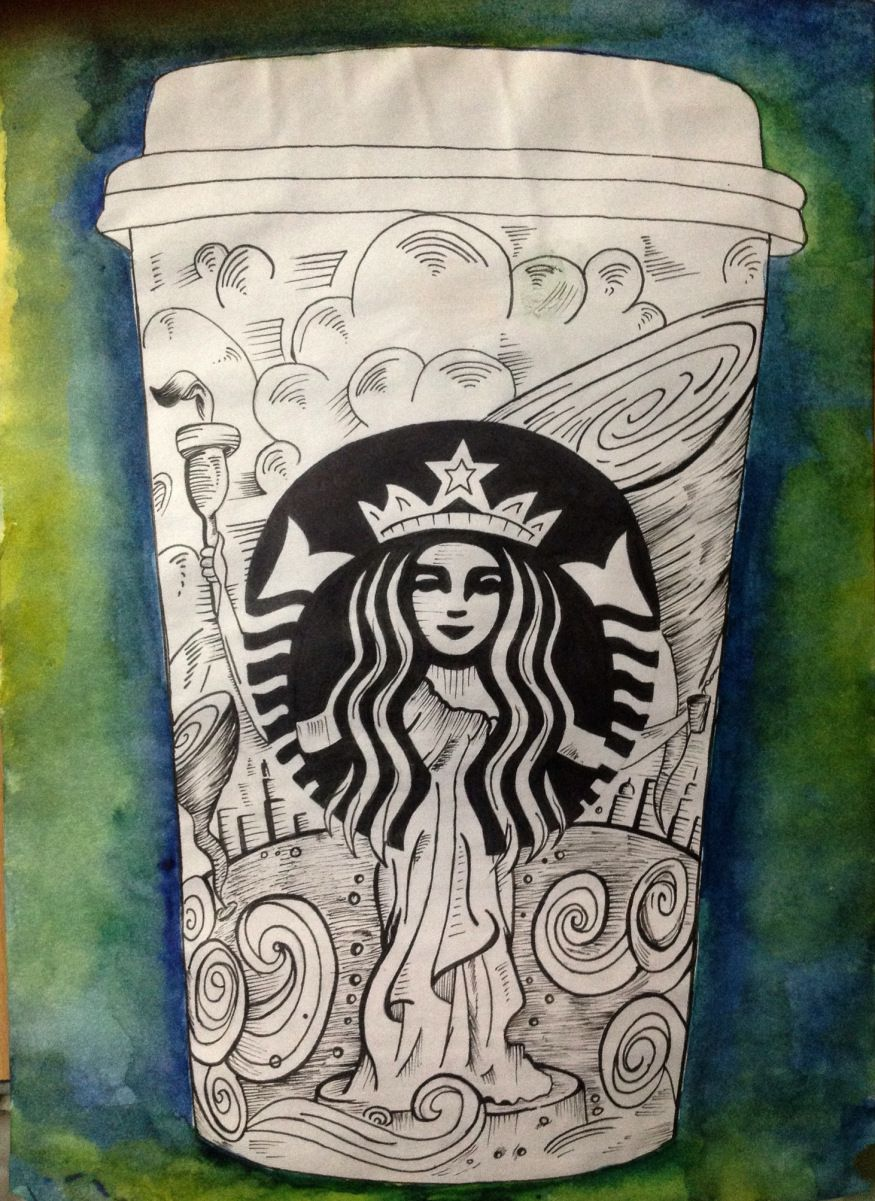 875x1201 Starbucks Cup Art Starbucks Cup Art, Cup Art And Starbucks