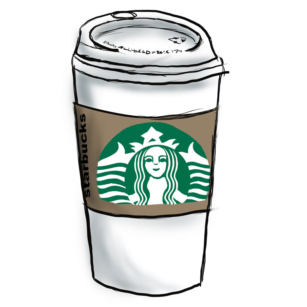 1024x1024 Starbucks Cup Drawing Cartoon