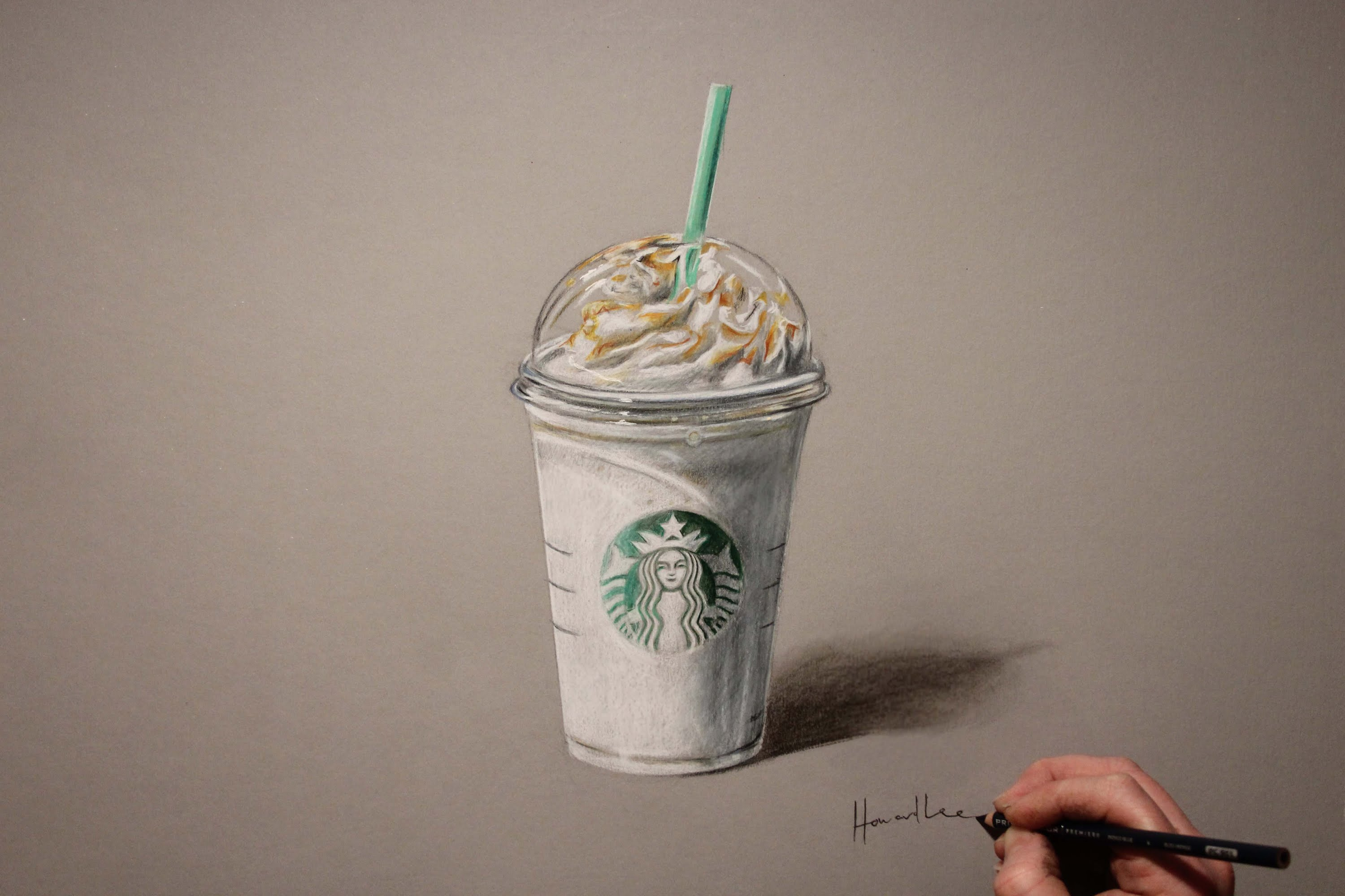 3000x2000 Drawing Time Lapse Starbucks Frappuccino