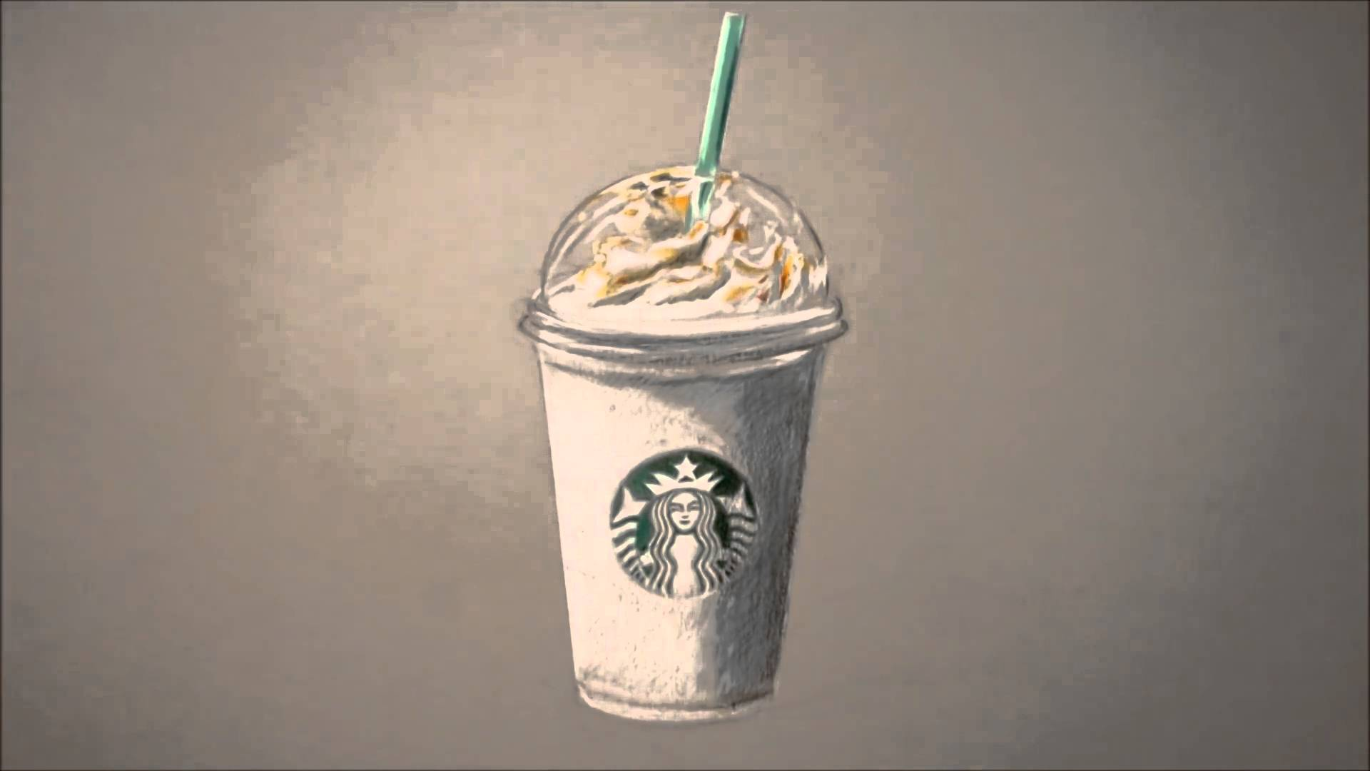 1920x1080 How To Draw] Drawing Time Lapse Starbucks Frappuccino By Howard