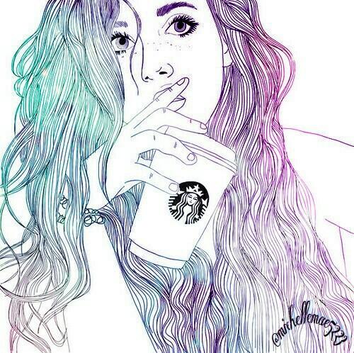 Starbucks Girl Drawing At Getdrawings Com Free For