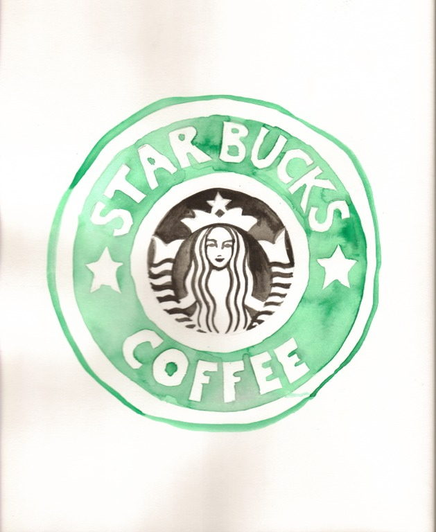 Starbucks Logo Drawing At Getdrawings Free For Personal Use
