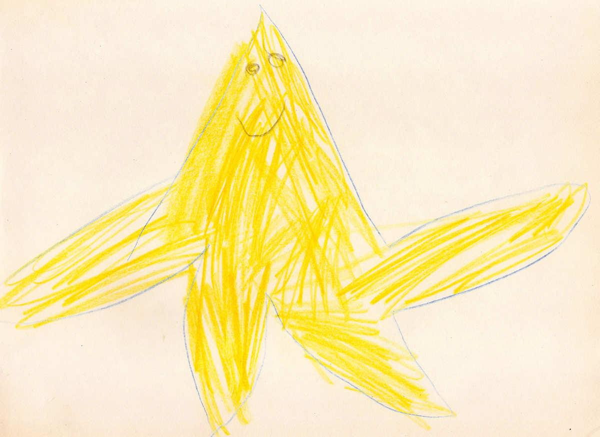 1200x873 Children's Drawings Fish Children's Drawing Starfish Fish 42736