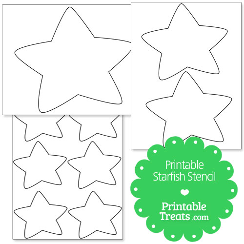 photograph relating to Printable Starfish Template known as Starfish Drawing Template at  Absolutely free for