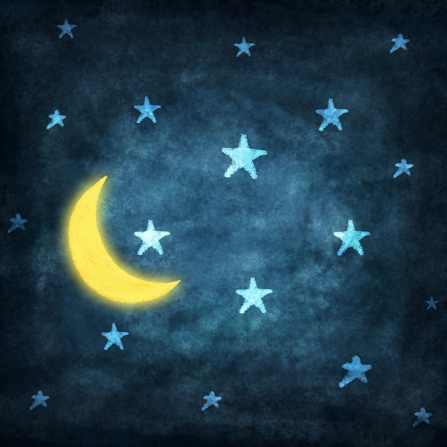 stars and moon drawing at getdrawings com free for personal use