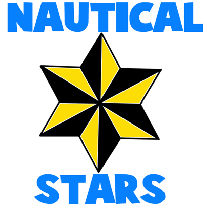 400x400 How To Draw 6 Sided Nautical Stars With Easy Step By Step Drawing