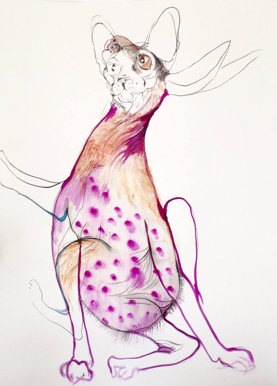 770x1073 Saatchi Art Take Me To The Stars Drawing By Olga