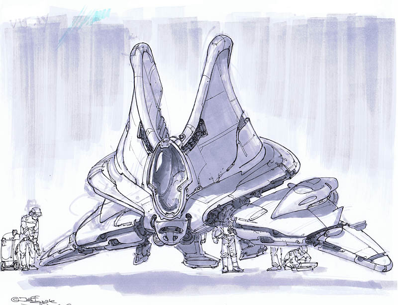 800x614 Jeff Zugale Art Blog Spaceship Sketch