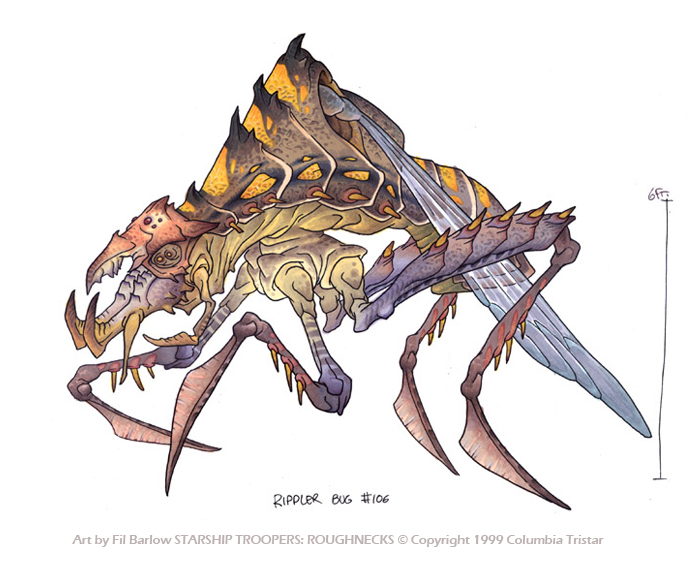 700x573 Rippler Bug From Starship Troopers. Drawing By Filbarlow