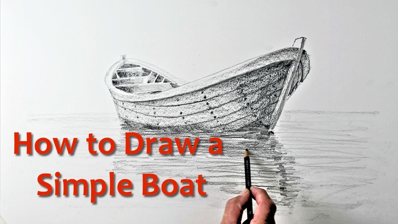 1280x720 Start Drawing Part 9 Draw A Simple Boat Art Tutorials Online