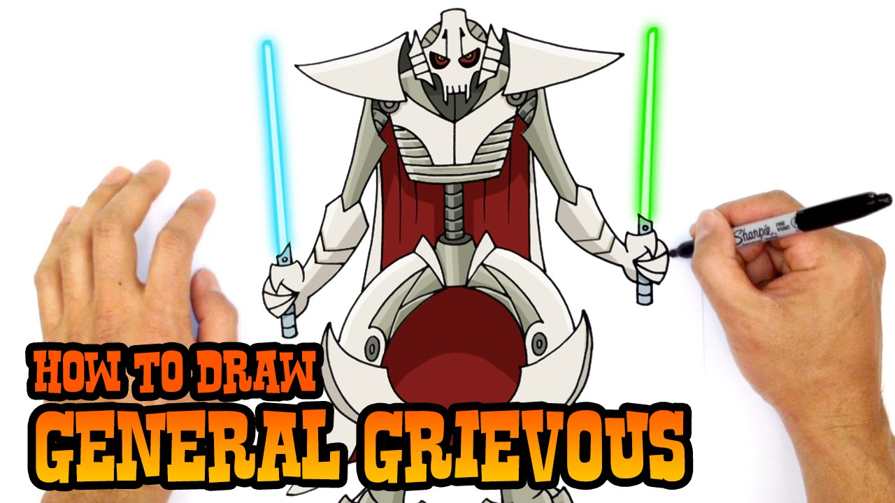 1280x720 How To Draw General Grievous Star Wars