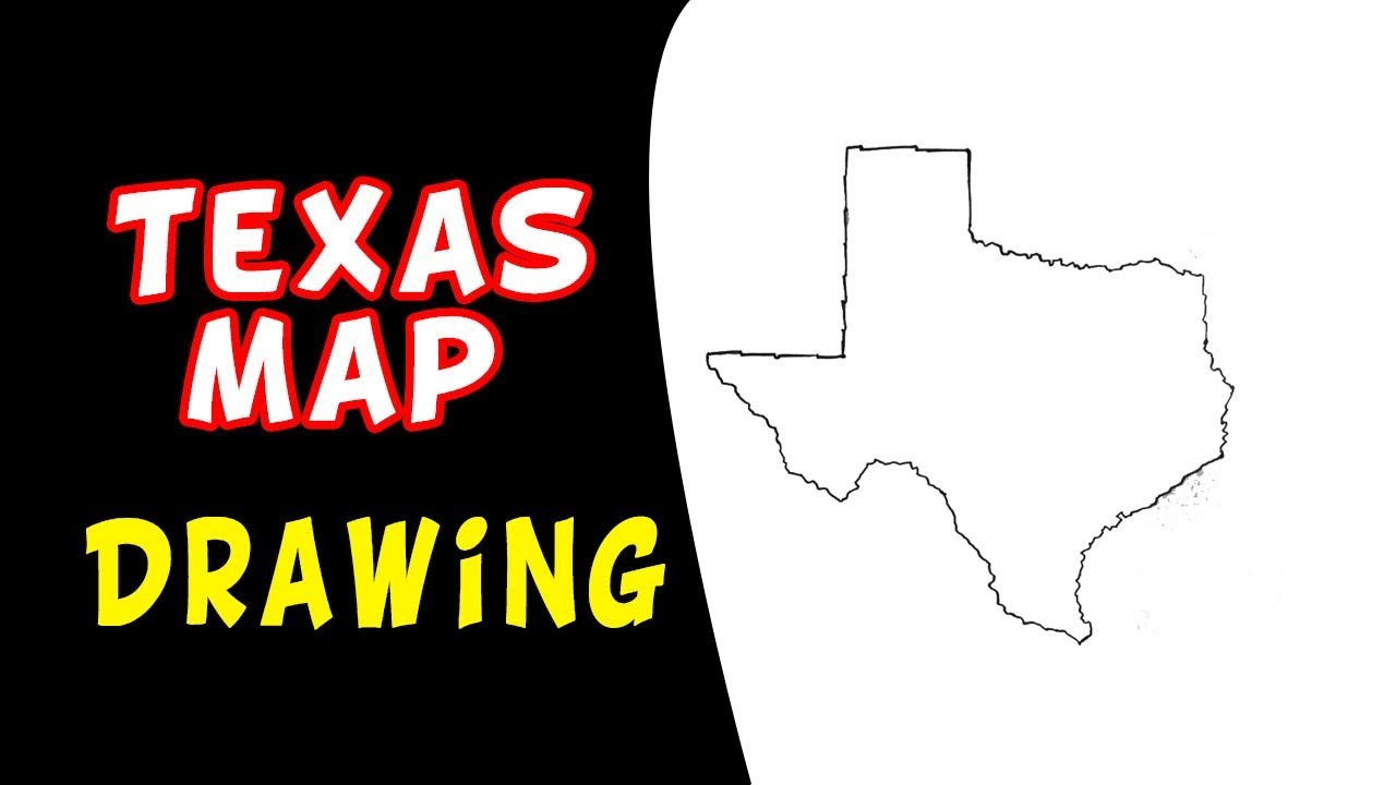 1280x720 How To Draw Texas Map (In Usa)
