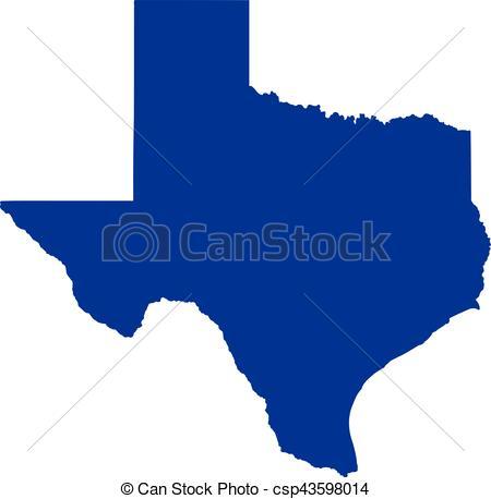 450x458 Texas State Map Vector Clip Art