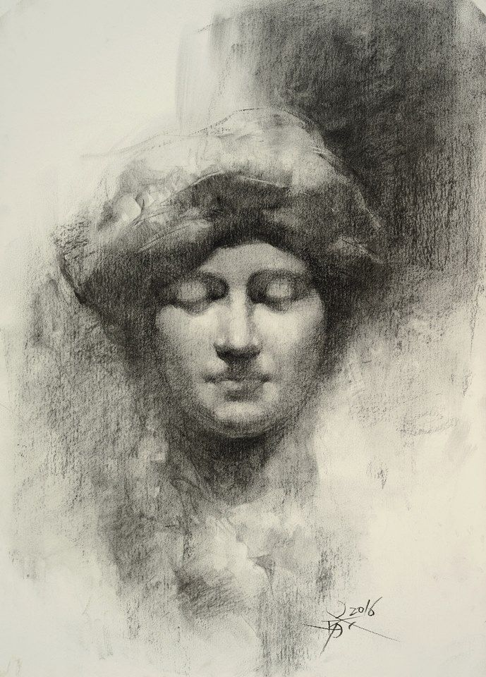 689x960 Statue Drawing With Charcoal By Chien Chung Wei Chien