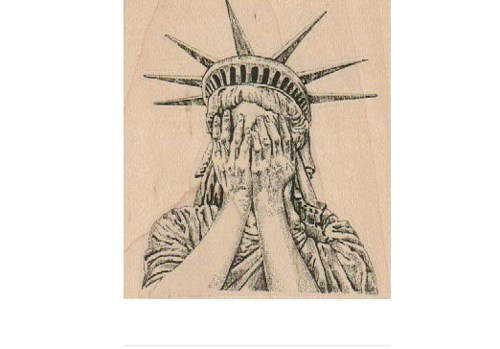 500x349 Weeping Statue Of Liberty Rubber Stamps Wood Mounted 19152 Cherub