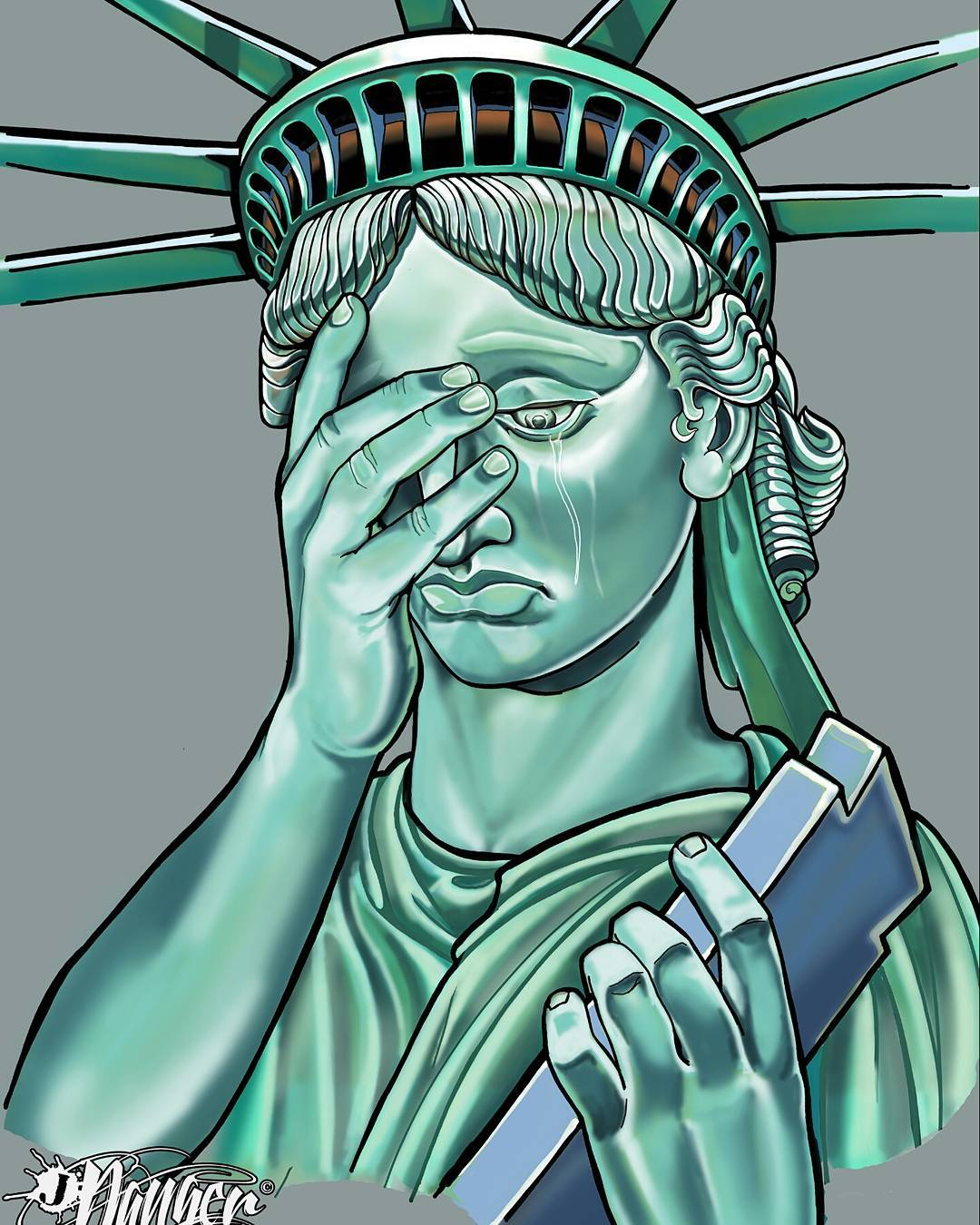 1080x1350 Work In Progress Liberty Crying. Funny Thing About The Statue