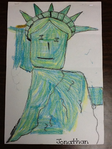 360x480 Mrs. Morgan's Kindergarten Class Statue Of Liberty