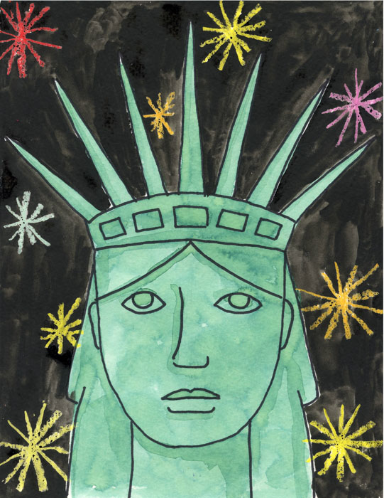 541x700 Statue Of Liberty Portrait