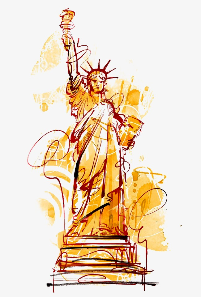 650x961 Drawing Statue Of Liberty, Statue Of Liberty Watercolor Stick