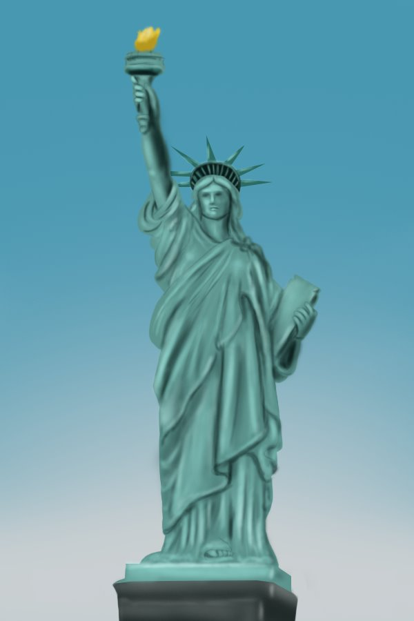 600x900 Learn How To Draw Statue Of Liberty (Statues) Step By Step