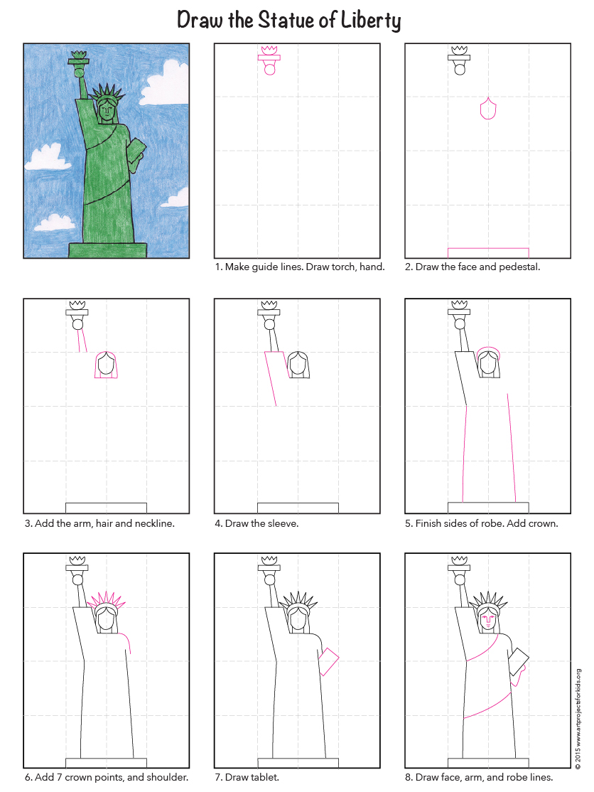 836x1114 Easy Statue Of Liberty Tutorial