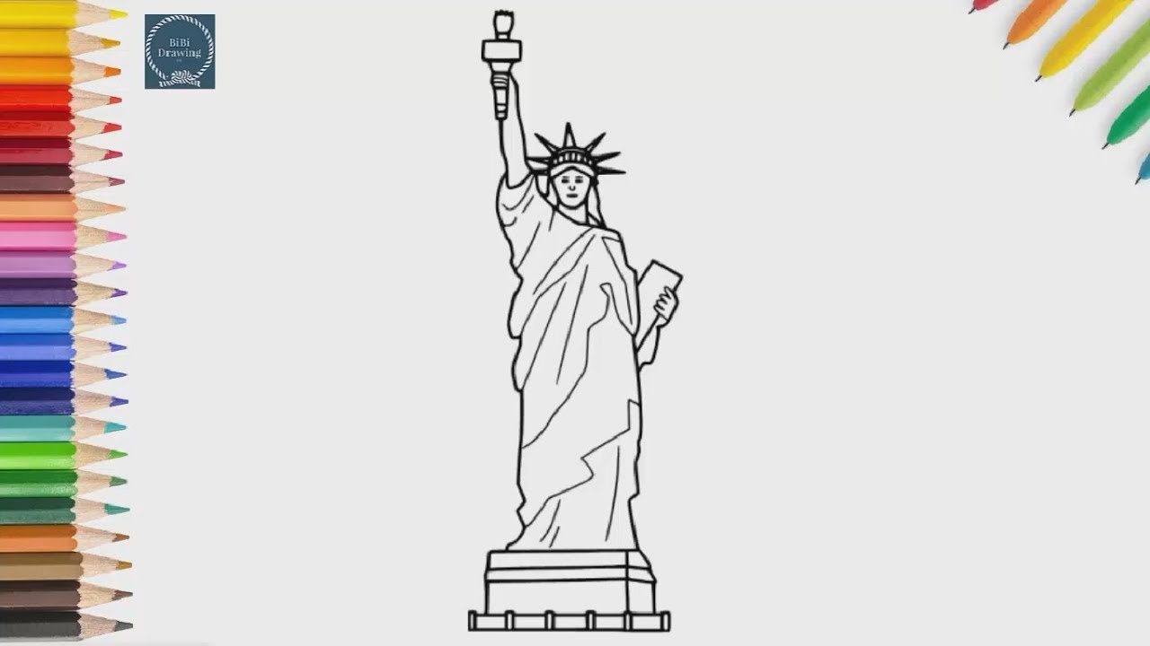 1280x720 How To Draw The Statue Of Liberty