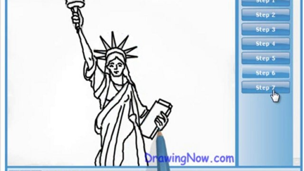 1280x720 How To Draw Statue Of Liberty