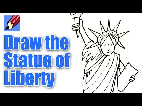 480x360 How To Draw The Statue Of Liberty Real Easy Shoo Rayner Author
