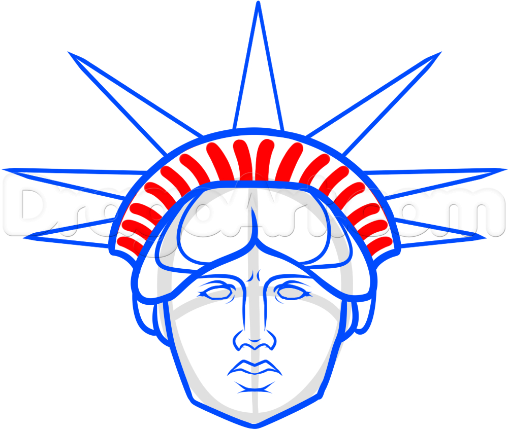1000x848 Statue Of Liberty Drawings How To Draw Statue Of Liberty Face