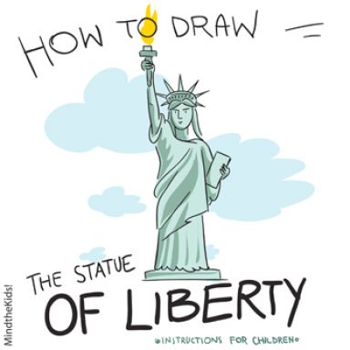 384x384 How To Draw Statue Of Liberty How To Draw The Statue Of Liberty