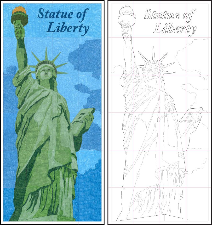 885x936 Art Projects For Kids Learn Art Diagram, Liberty