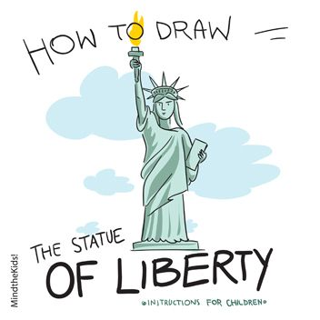 352x352 How Draw Statue Of Liberty Art Lessons How
