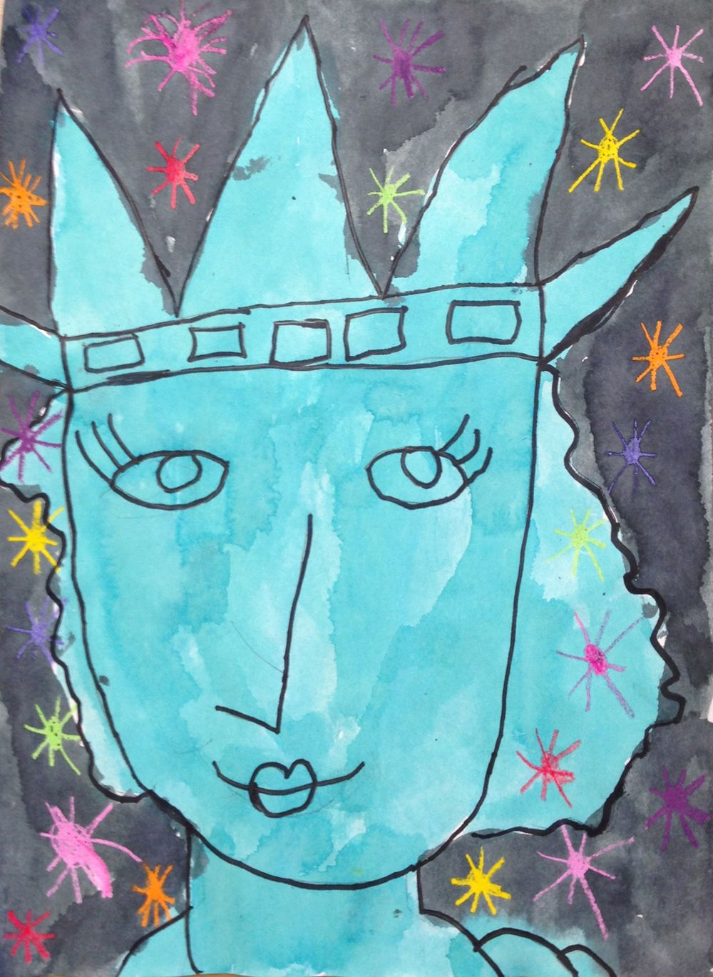 1000x1370 Lady Liberty Painting Paintings, Social Studies And Liberty