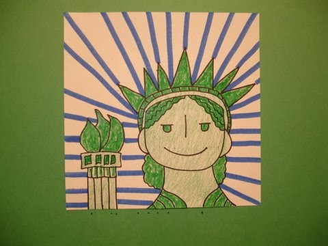 480x360 Let's Draw The Statue Of Liberty!