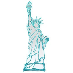 photo relating to 3doodler Stencils Printable titled Statue Of Independence Drawing Template at  Totally free