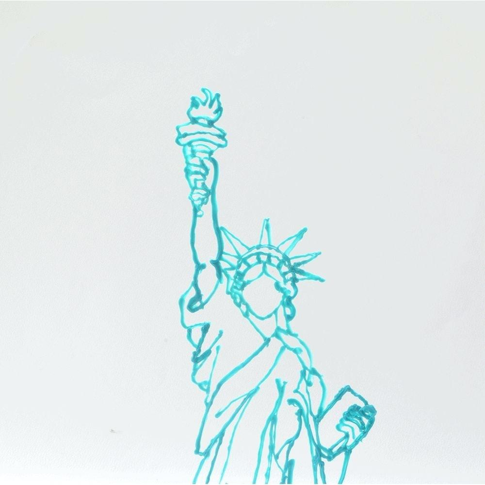 1000x1000 Statue Of Liberty Drawing Template